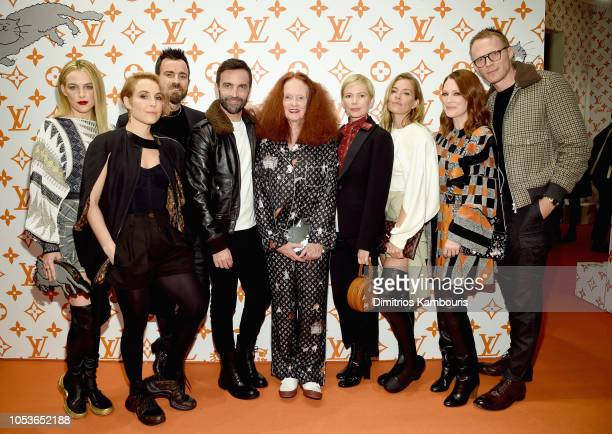 Riley Keough Noomi Rapace Justin Theroux Nicolas Ghesquiere Grace Coddington Michelle Williams Sienna Miller Julianne Moore and Paul Bettany attend...
