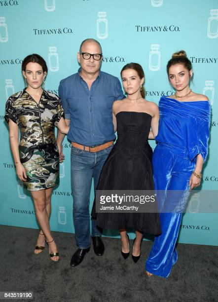Riley Keough Reed Krakoff Zoey Deutch and Ana de Armas attend the Tiffany Co Fragrance launch event on September 6 2017 in New York City