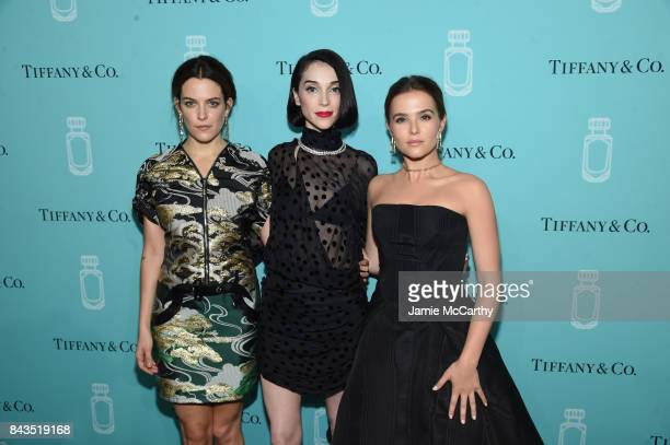 Riley Keough St Vincent and Zoey Deutch attend the Tiffany Co Fragrance launch event on September 6 2017 in New York City