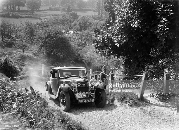 Riley Kestrel taking part in a West Hants Light Car Club Trial Ibberton Hill Dorset 1930s Riley 4 light Kestrel saloon 1934 1089 cc Vehicle Reg No...