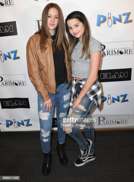 Riley Lewis and Annie LeBlanc attend the Birthday Party For Elam Roberson held at Pinz Bowling on March 21 2018 in Los Angeles California
