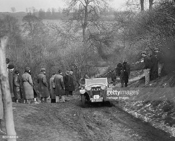 Riley Lynx of RC Player competing in the Sunbac Colmore Trial Gloucestershire 1933 Artist Bill BrunellRiley Lynx 1932 1089 cc Vehicle Reg No WP1500...