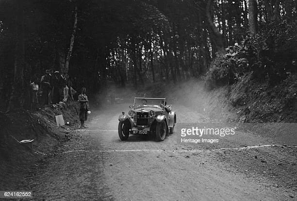 Riley Lynx taking part in a motoring trial c1930s Artist Bill BrunellRiley Lynx 1932 1089 cc Vehicle Reg No WP1500 Event Entry No 63 Place...