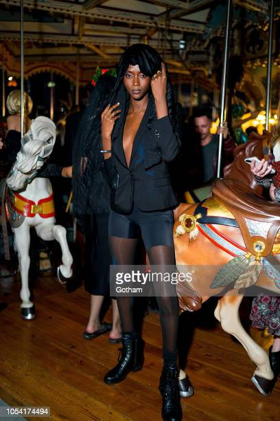 Riley Montana attends the V Magazine Halloween Party presented by Chanel at Jane's Carousel on October 26 2018 in Brooklyn New York