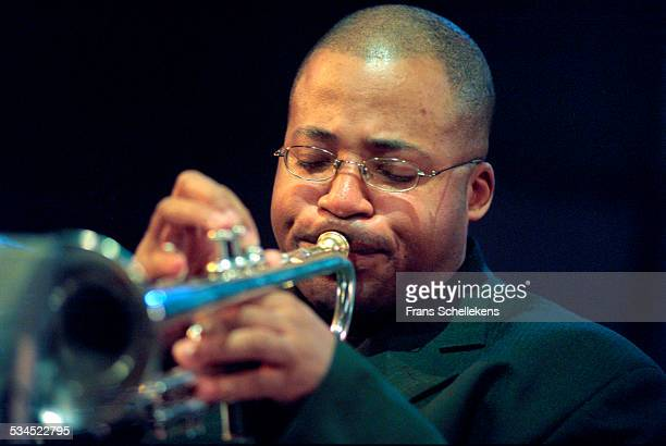 Riley Mullins, trumpet, performs on January 19th 2001 at the BIM huis in Amsterdam, Netherlands.
