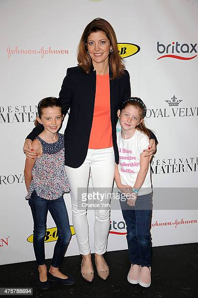 Riley Norah Tracy Norah O'Donnell and Grace Tracy attend 2015 Baby Buggy Bedtime Bash at Victorian Gardens at Wollman Rink Central Park on June 3...