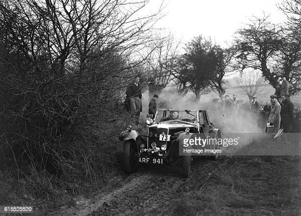 Riley of C Beddow at the Sunbac Colmore Trial near Winchcombe Gloucestershire 1934 Riley Vehicle Reg No ARF941 Event Entry No 73 Driver Beddow C 2nd...