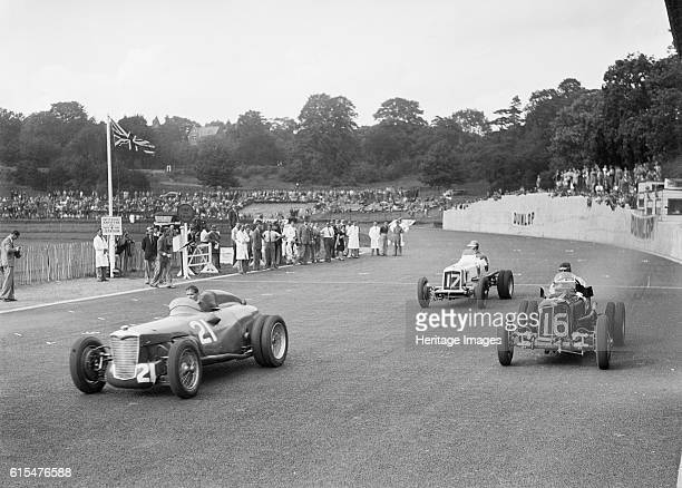 Riley of PW Maclure and ERAs of Raymond Mays and AC Dobson Imperial Trophy Crystal Palace 1939 Left Riley 1487S cc Event No 21 Driver Maclure PW...