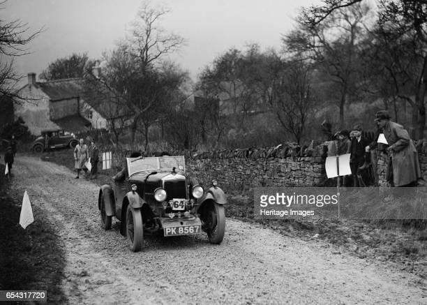 Riley open 4seater tourer of Hugh Hunter competing in the NWLMC LondonGloucester Trial 1931 Artist Bill Brunell Riley Open 4seater tourer 1929 1089...