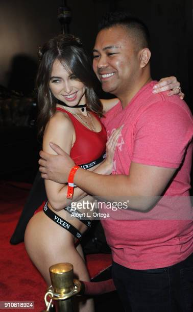 Riley Reid attends the 2018 AVN Adult Entertainment Expo at the Hard Rock Hotel Casino on January 26 2018 in Las Vegas Nevada