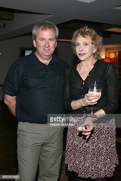 Riley Robinson and Carolee Schneemann attend ARTPACE San Antonio host a reunion of international artists and curators at Soho House on April 17 2008...