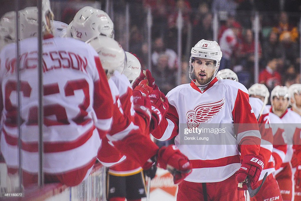 Detroit Red Wings v Calgary Flames : News Photo