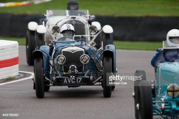 Riley Sprite driven by entrant Ralf Emmerling in the Brooklands Trophy at Goodwood on September 8th 2017 in Chichester England