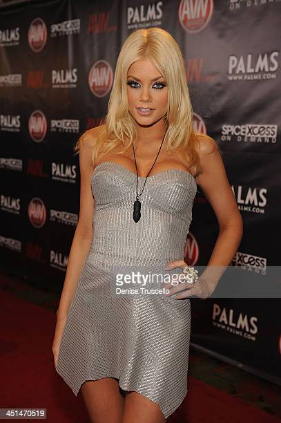 Riley Steele arrives at the 2010 AVN Awards at the Pearl at The Palms Casino Resort on January 9 2010 in Las Vegas Nevada