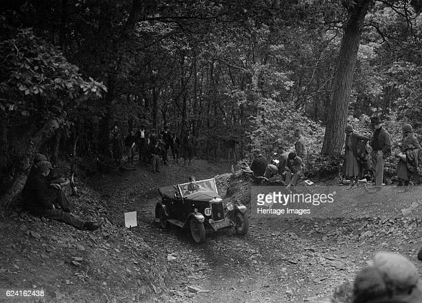 Riley taking part in a motoring trial c1930s Artist Bill BrunellRiley 1089 cc Vehicle Reg No YW8285 Event Entry No 61 Place Unidentified Trial