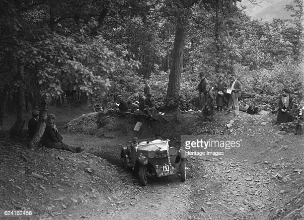 Riley taking part in a motoring trial c1930s Artist Bill BrunellRiley 1089 cc Vehicle Reg No GW6880 Event Entry No 62 Place Unidentified Trial