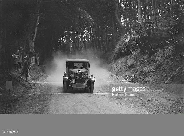 Riley taking part in a motoring trial c1930s Artist Bill BrunellRiley 1089 cc Vehicle Reg No GH1484 Event Entry No 58 Place Unidentified Trial Date