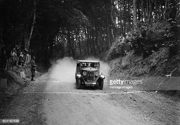 Riley taking part in a motoring trial c1930s Artist Bill BrunellRiley 1089 cc Vehicle Reg No GP89 Event Entry No 59 Place Unidentified Trial