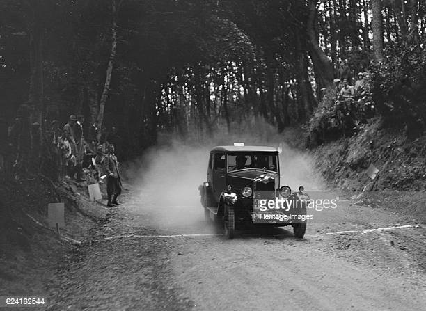 Riley taking part in a motoring trial c1930s Artist Bill BrunellRiley 1089 cc Vehicle Reg No PN4321 Event Entry No 46 Place Unidentified Trial