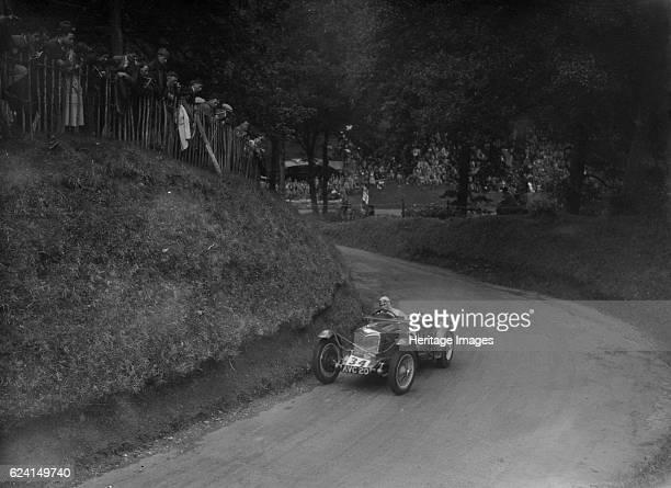 Riley TT Sprite competing in the Shelsley Walsh Hillclimb Worcestershire 1935 Artist Bill BrunellRiley TT Sprite 1486 cc Vehicle Reg No AVC20 Event...