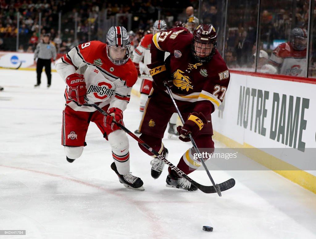2018 NCAA Division I Men's Hockey Championships - Semifinals : News Photo