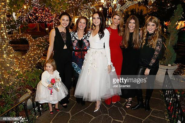 Riley Vilasuso Kaitlin Vilasuso Patricia Riley Bailee Madison Lori Loughlin Olivia Giannulli and Isabella Giannulli pose for a photo prior to the...