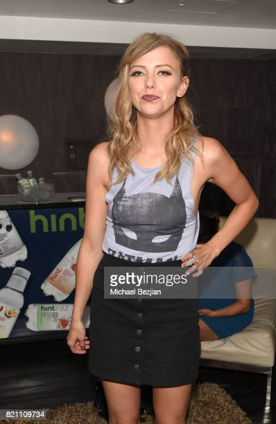 Riley Voelkel attends Comic Con TVLine Media Lounge Sponsored By Hint on July 22 2017 in San Diego California
