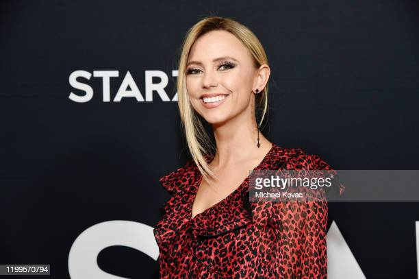 Riley Voelkel attends STARZ Who Shot Ghost Murder Mystery Event on January 14 2020 in Pasadena California