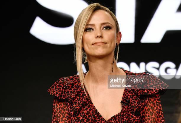 Riley Voelkel of 'Hightown' speaks onstage during STARZ TCA Winter 2020 on January 14 2020 in Pasadena California