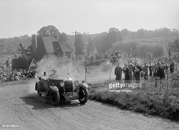 Riley with tourer body, Bugatti Owners Club Hill Climb, Chalfont St Peter, Buckinghamshire, 1935. Riley 1087 cc. Vehicle Reg. No. GH3327. Event Entry...