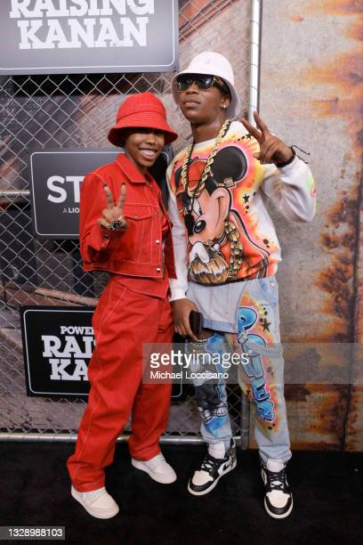 Rileyy Lanez and Mekai Curtis attend 'Power Book III: Raising Kanan' global premiere event and screening at Hammerstein Ballroom on July 15, 2021 in...