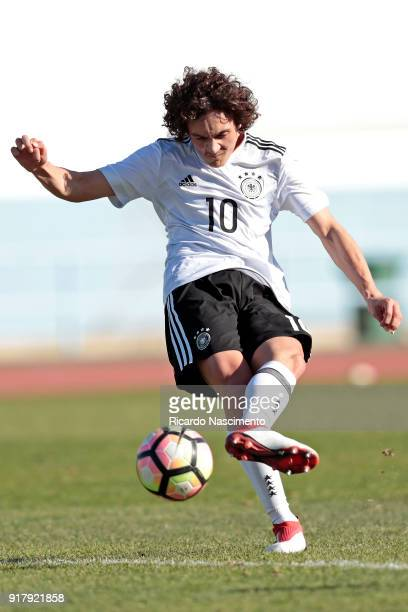 Rilind Hetemi of Germany U16 during UEFA Development Tournament match between U16 Germany and U16 Portugal at VRSA Stadium on February 12 2018 in...