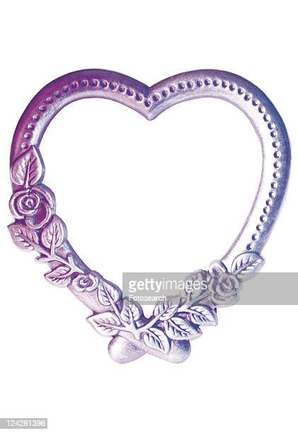 rim, frame, heartshaped, purple, flower