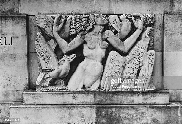 'Rima' a 1923 relief sculpture by Americanborn British sculptor Jacob Epstein at the memorial to writer and ornithologist William Henry Hudson in...