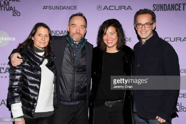 Rima Acord Lance Acord Jackie Kelman and Sam Bisbee attend the 2020 Sundance Film Festival The Truffle Hunters Premiere at Prospector Square Theatre...