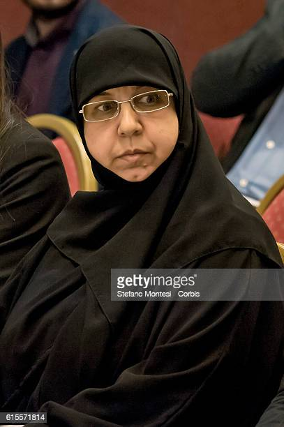 Rima Fakhri member of the political council of Hezbollah during International conference Mediterranean Solidarity organized by the nonprofit...