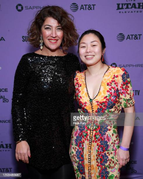 Rima Mismar and Nanfu Wang attend the 2020 Sundance Film Festival Awards Night Ceremony at Basin Recreation Field House on February 01 2020 in Park...