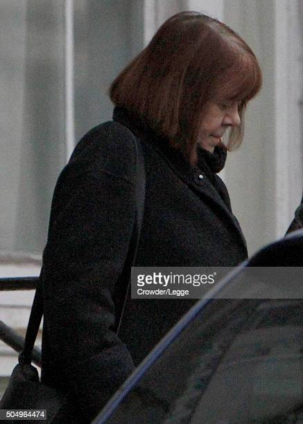 Rima Rickman is sighted for one of the first times since the announcement of the death of her husband British actor Alan Rickman on January 14 2016...