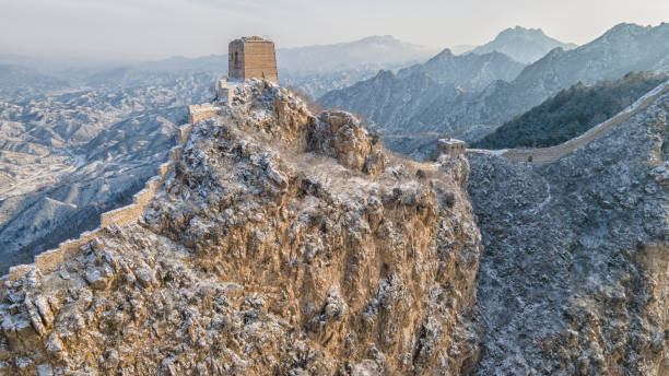 CHN: Snow Falls On Great Wall of China