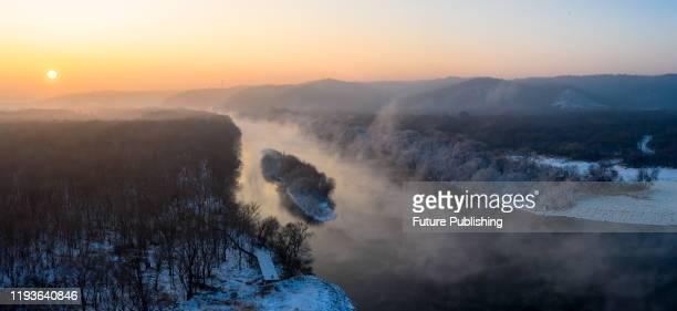 Rime landscape of shanhukou, Wudalianchi City, Heilongjiang Province, China, January 14, 2020. - PHOTOGRAPH BY Costfoto / Barcroft Media