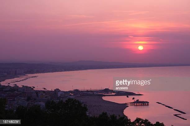 rimini coastline - emilia romagna stock pictures, royalty-free photos & images