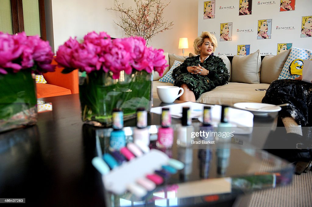 Rimmel London press preview with Rita Ora at The Mercer Hotel on April 24, 2014 in New York City.