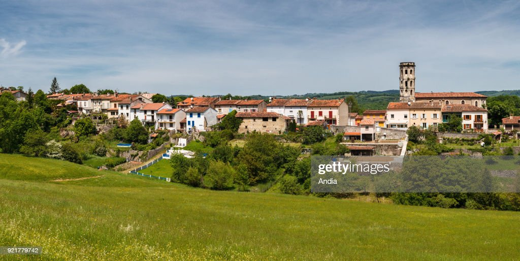 Rimont, small village of the Couserans province. : News Photo
