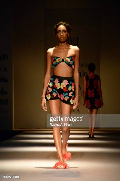 Rimzim Dadu opens the Fashion Design Council of India's 30th edition of India Fashion Week Spring Summer 2018 held at National Small Industries...