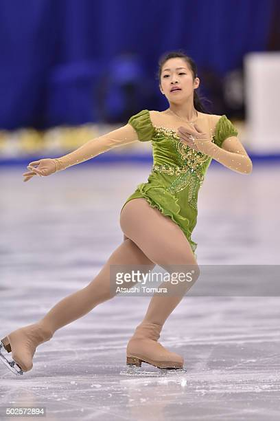 Rin Nitaya of Japan competes in the Ladies free skating during the day three of the 2015 Japan Figure Skating Championships at the Makomanai Ice...