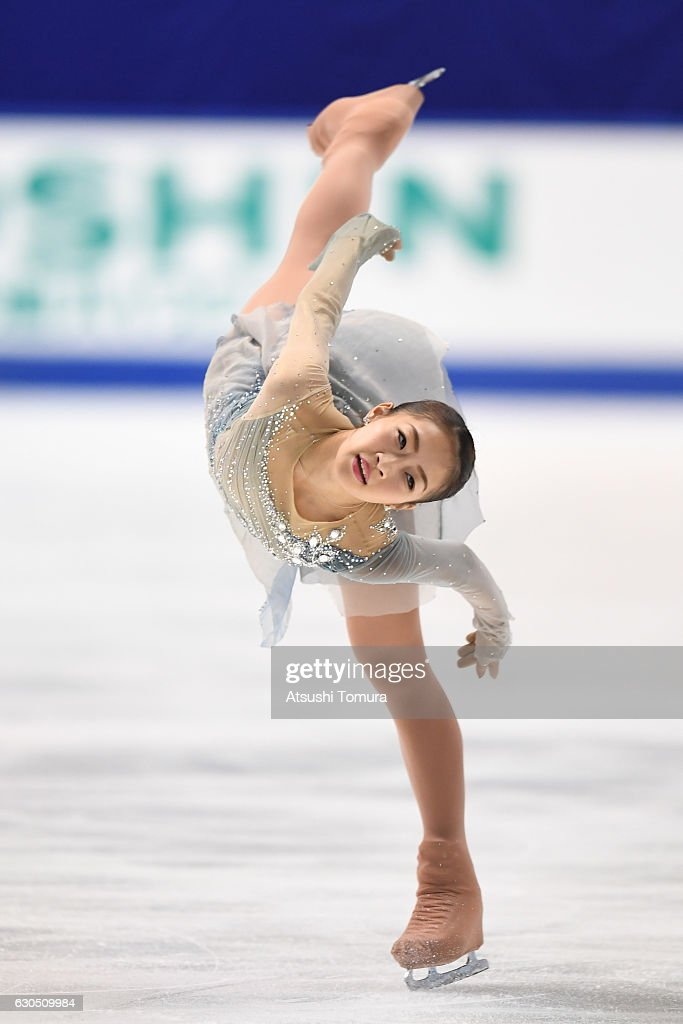 Rin Nitaya of Japan competes in the Ladies free skating during the Japan Figure Skating Championships 2016 on December 25, 2016 in Kadoma, Japan.