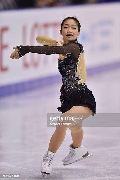 Rin Nitaya of Japan competes in the ladies short program during the day two of the 2015 Japan Figure Skating Championships at the Makomanai Ice Arena...