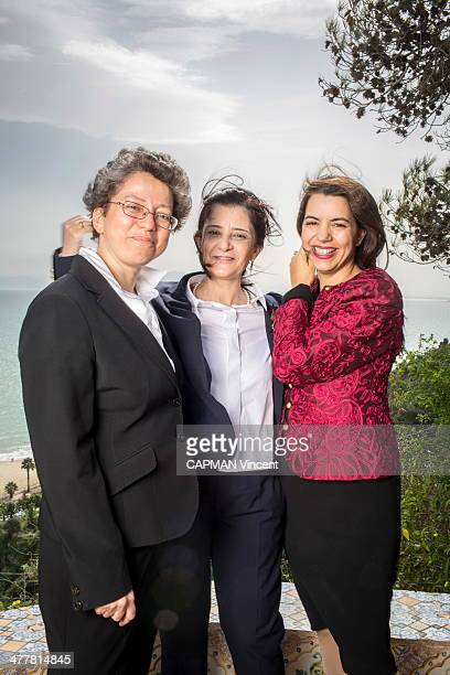 rIn the residence of Baron d'Erlanger from right to left Amel Karboul 40 years Minister of Tourism Neila Chaabane 52 Secretary of State for Women and...
