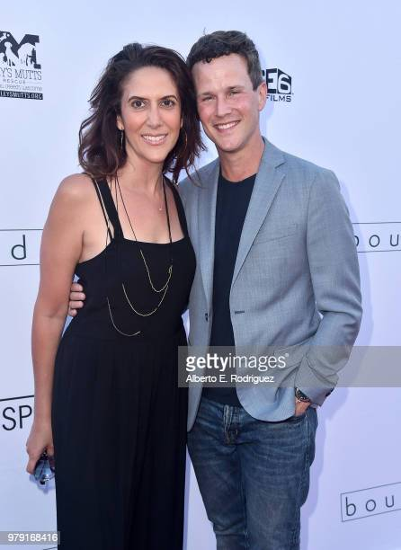 Rina Mimoun and actor Scott Weinger attend the premiere of Sony Pictures Classics' 'Boundries' at American Cinematheque's Egyptian Theatre on June 19...