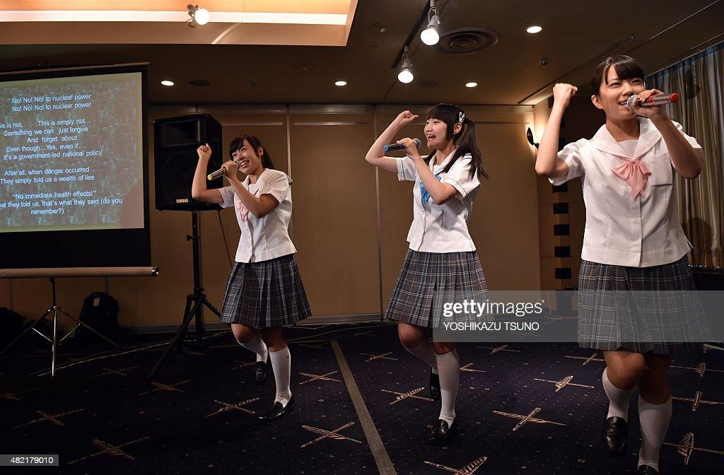 Rina Nishino, Kana Kinashi and Noa Saito, members of the